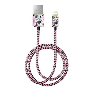 Fashion Cable 1m Lightning PEONY GARDEN