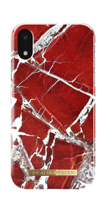 Fashion Case iPhone XR ScarletRedMarbl