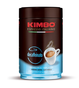 KIMBO DECAFF. 250 gr Ground Tin
