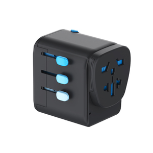 Passport Pro World Travel Adapter - Blk