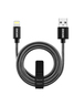USB-A to Lightning Alu Cable 1m Black