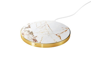 Fashion QI Charger Carrara Gold Marble