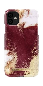 Fashion Case iPh 11 Gold Burgundy Marble