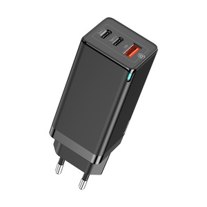 GaN Laptop Charger C+C+A 65W EU Black