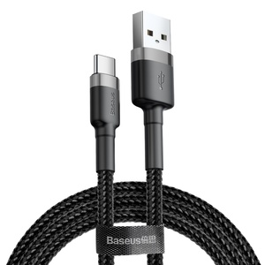 Cafule Cable USB/TypeC 3A 0.5m Grey/Blk