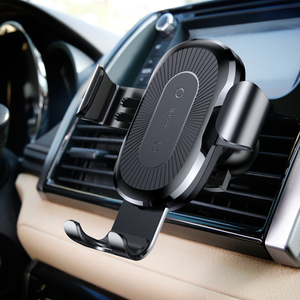 Wireless Charger Gravity Car Mount Black