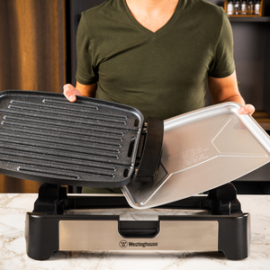 Electric Health Grill Marble Black