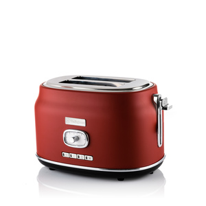 2 Slice Retro Toaster Red