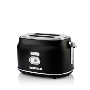 2 Slice Retro Toaster Black