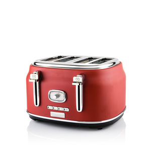 4 Slice Retro Toaster Red