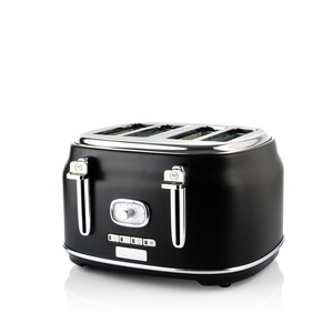 4 Slice Retro Toaster Black
