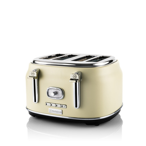 4 Slice Retro Toaster White