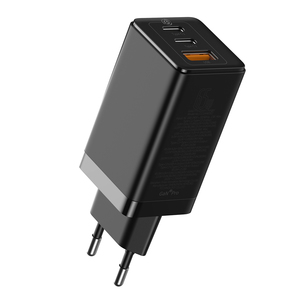 GaN2 Laptop Charger C+C+A 65W EU Black